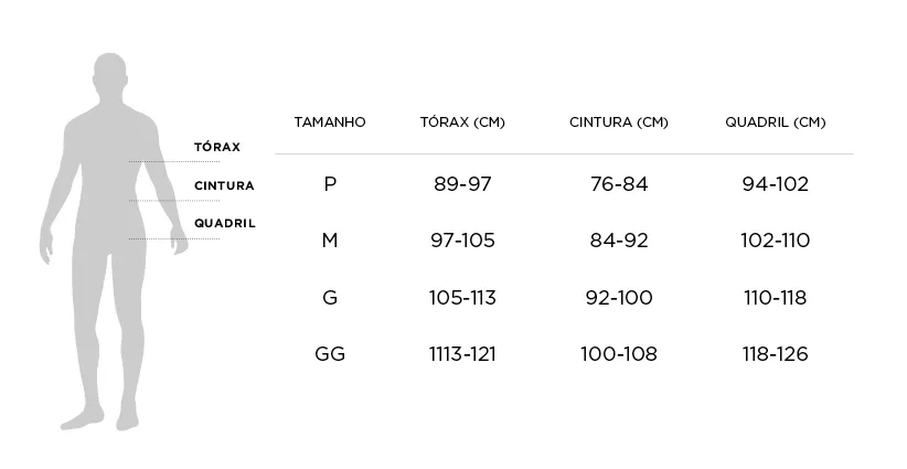 Tabela de Medidas - Roupão Trussardi Domenico