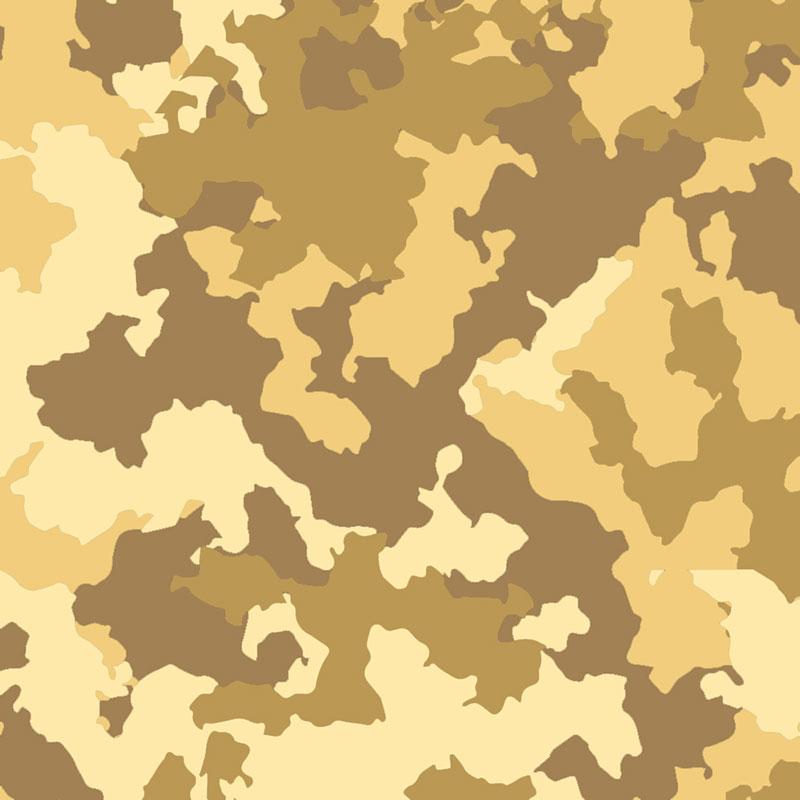 Fabricart - Coleção Camuflados - Camuflado Deserto - 50cm X150cm