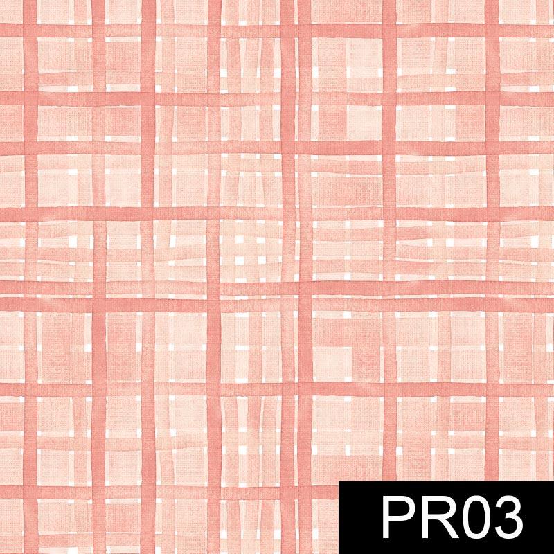 Fuxicos e Fricotes - Coleção Veneza - Xadrez Veneza Rosé - 50cm X150cm