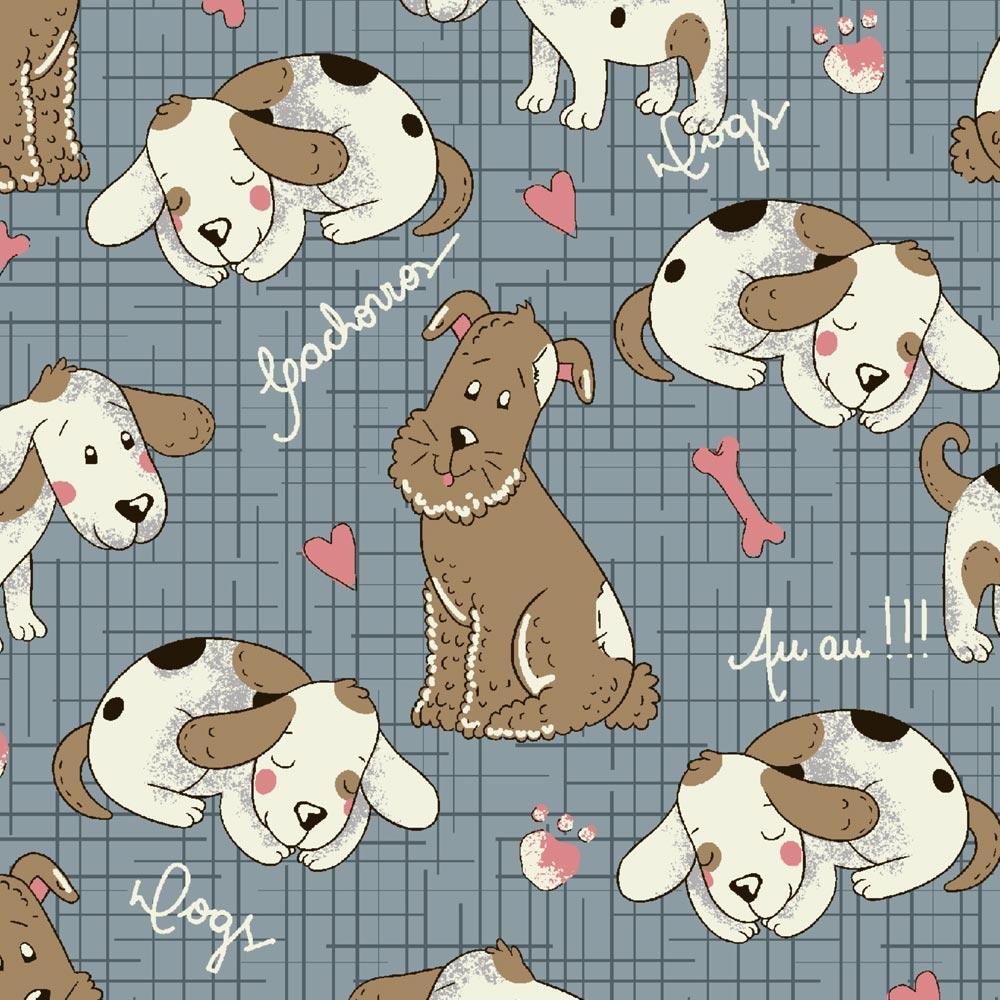 Fuxicos e Fricotes Coleção Melhores Amigos - Cachorrinhos Pastel - 50cm X150cm