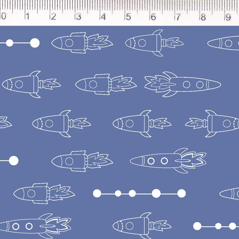 Fernando Maluhy - Por Eliana Sposito - Foguetes Monoton Azul - 50cm X 150cm
