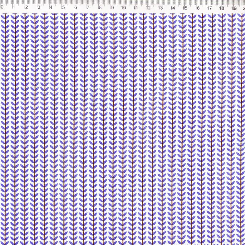 Fernando Maluhy - Coleção Botânica - Floral Azul - 50cm X 150cm