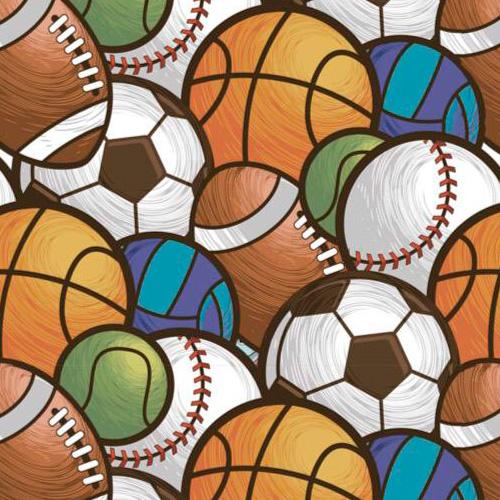 Fuxicos e Fricotes Coleção Esportes - Bolas Multiesportes - 50cm X150cm