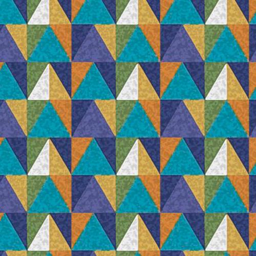 Fuxicos e Fricotes Coleção Esportes - Triângulos Coloridos - 50cm X150cm