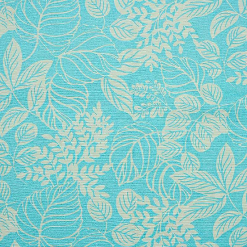 Tecido Gorgurão - Folhagem Tiffany - 50cm x 140cm