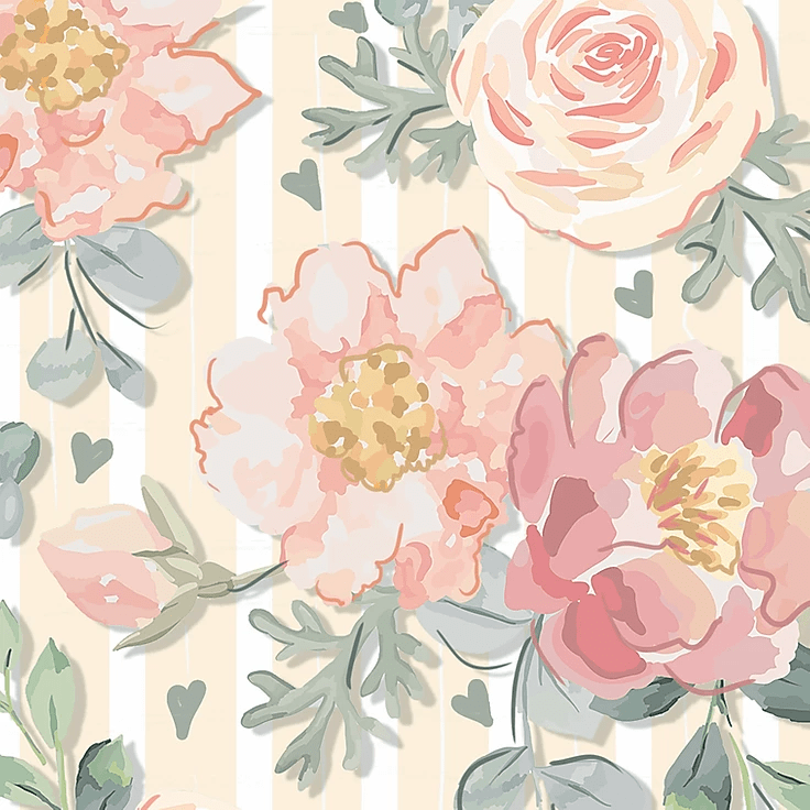 Fuxicos e Fricotes Colecao Veneza Estampa Floral Veneza Rose 50cm X150cm