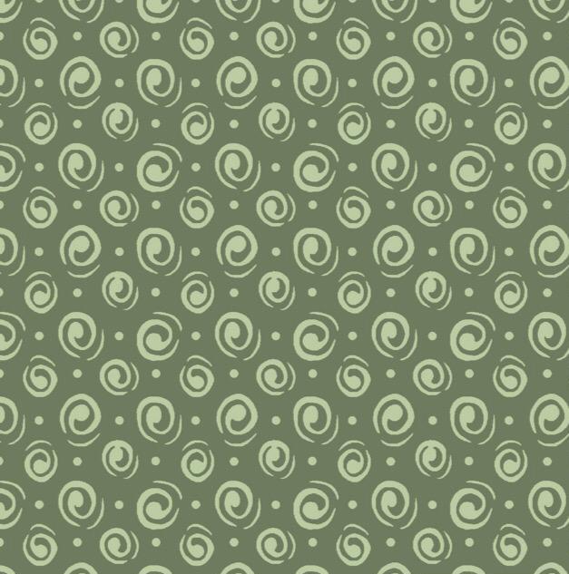 Fuxicos e Fricotes Coleção Garden - Espiral Verde - 50cm X150cm