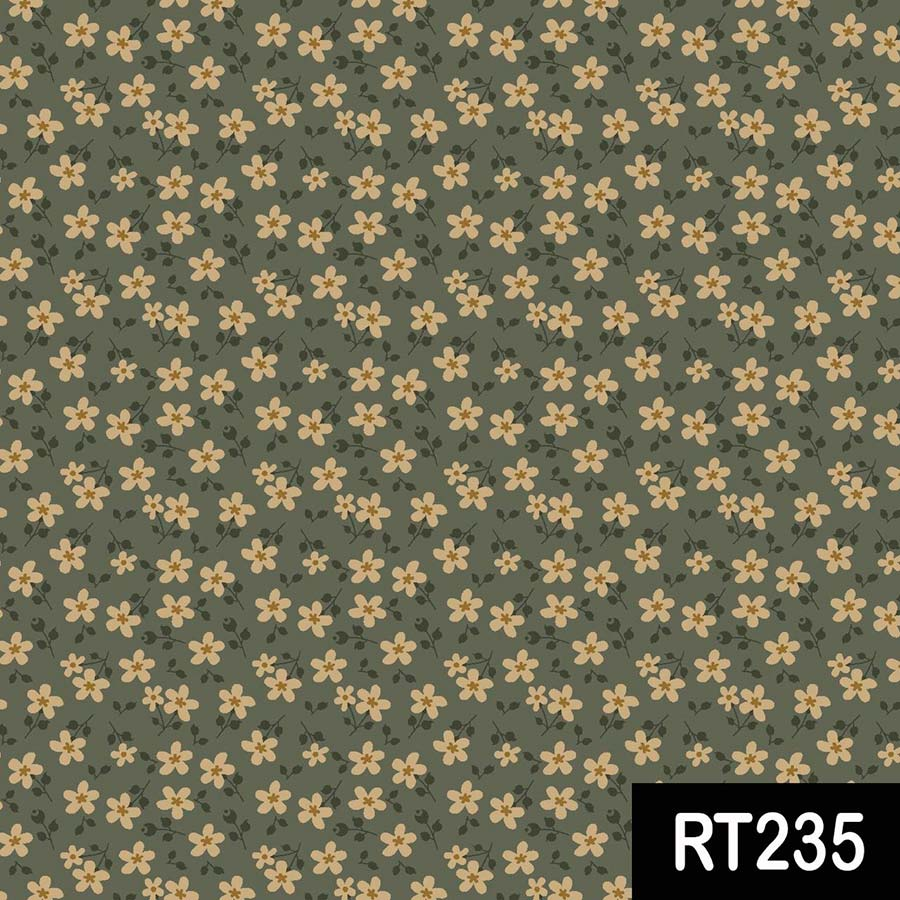 Fuxicos e Fricotes Coleção Utah Estampa Mini Floral Utah Verde 50cmX150cm