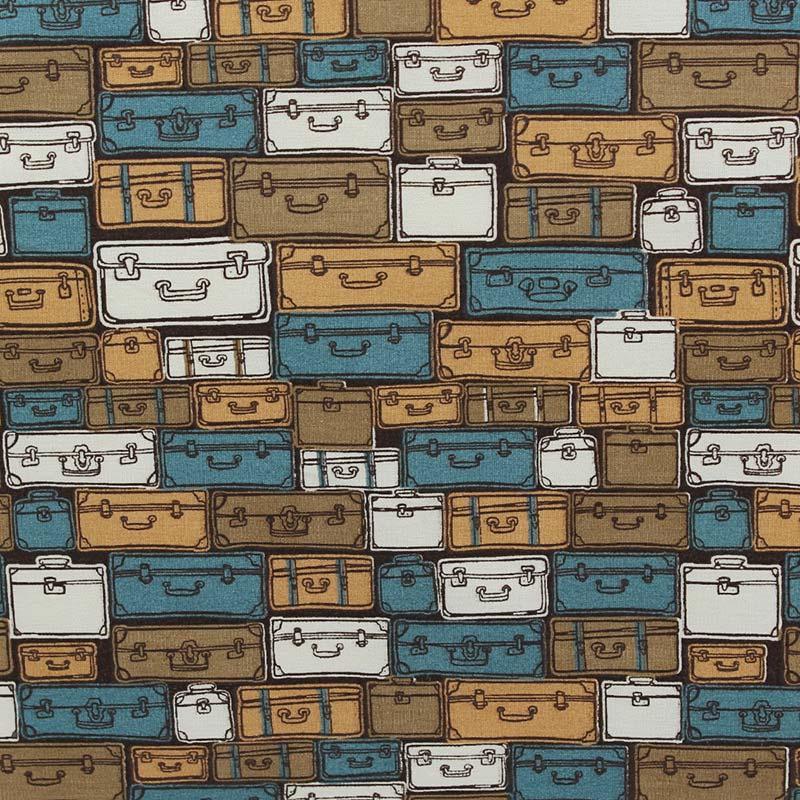 Fabricart Coleção Viagem - Bolsas de Viagem Azul - 50cm X150cm