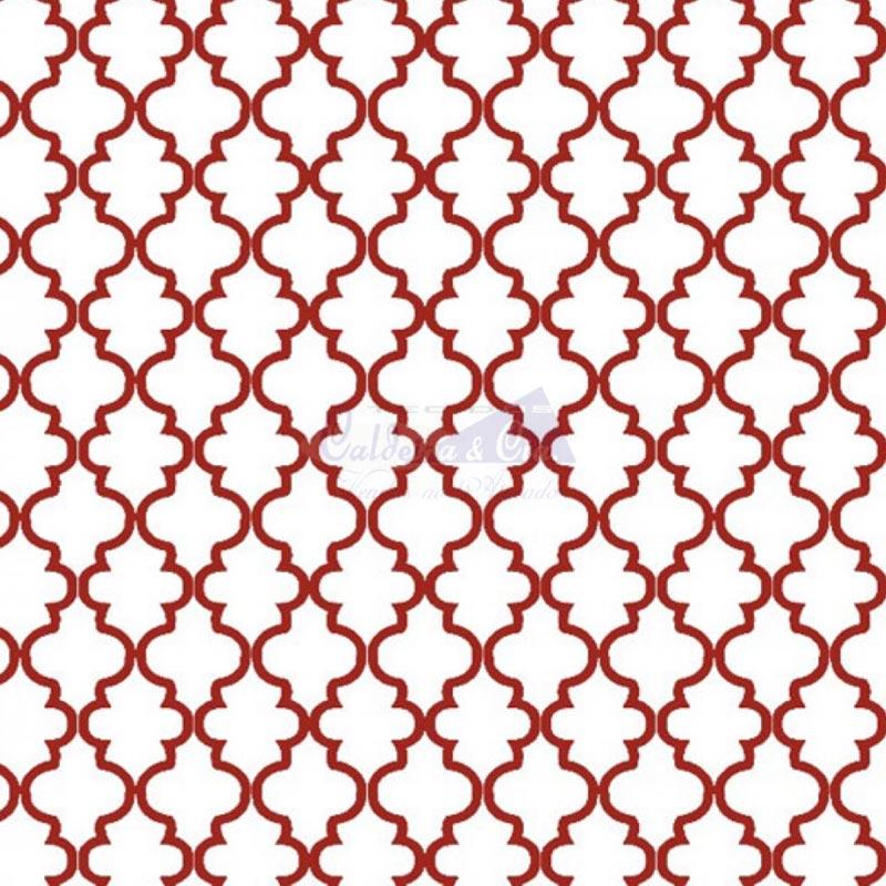 Caldeira Coleção Estrelas do Cinema - Estampa Ana Vermelho - 50cm x 150cm