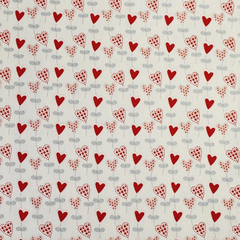Fabricart Coleção I Love You - Balõezinhos de Coração Vermelho  - 50cm X150cm