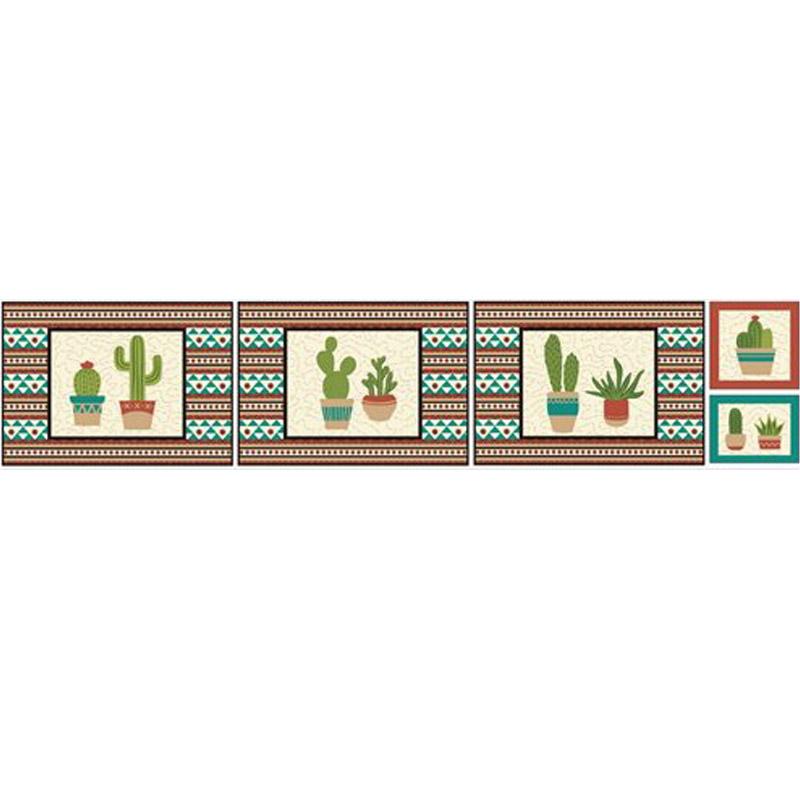 Eva e Eva Coleção Cactus - Estampa Cactos Jogo Americano - 50cm x 150cm