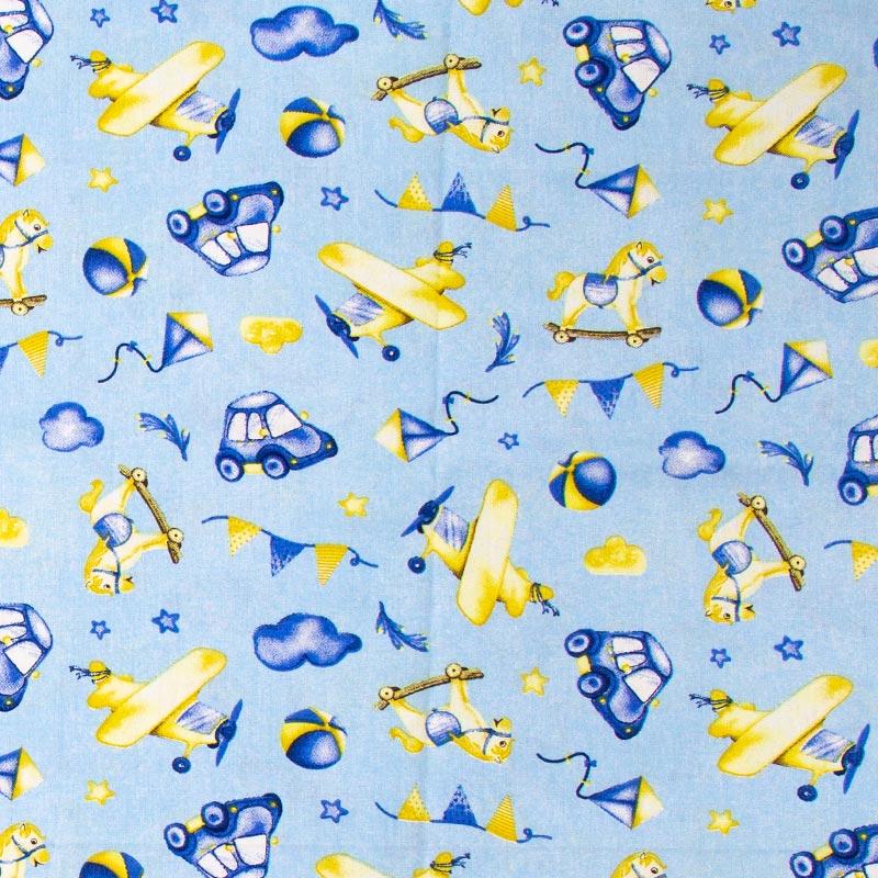 Caldeira - Brinquedos Com Fundo Azul  Maya - 50cm x 150cm