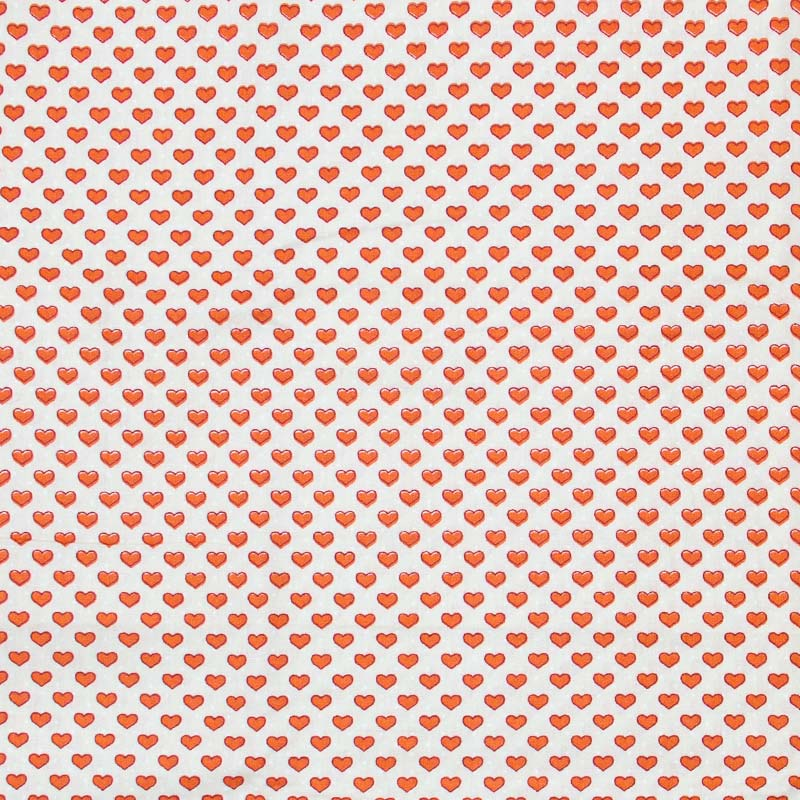 Caldeira - Corações Vermelho Com Fundo Branco - 50cm x 150cm