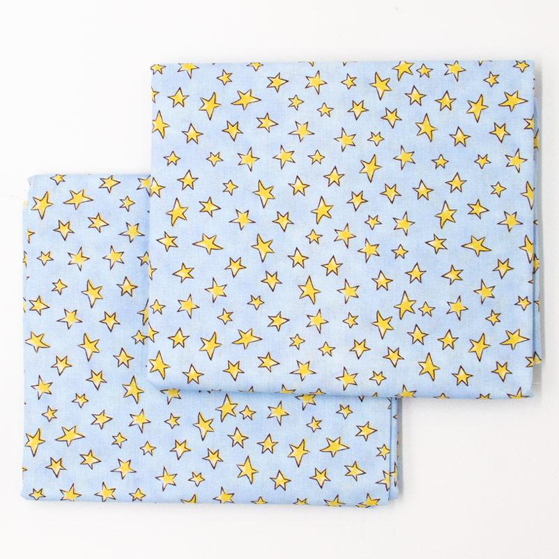 Caldeira Coleção Conto de Fadas - Estrelinha Amarelo Fundo Azul - 50cm x 150cm