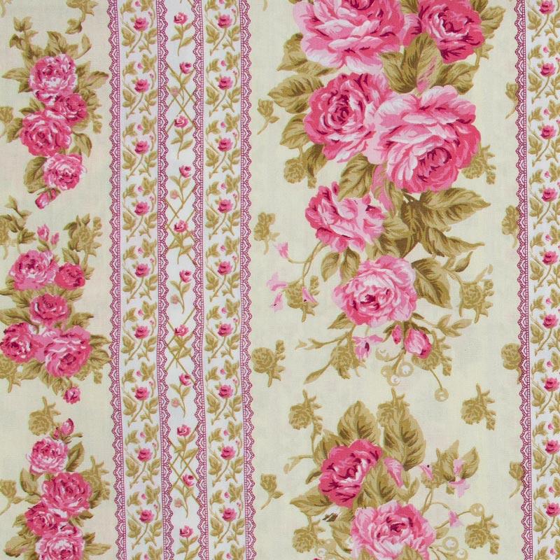 Caldeira - Faixas Rosa Rose Com Fundo Cinza - 50cm X150cm