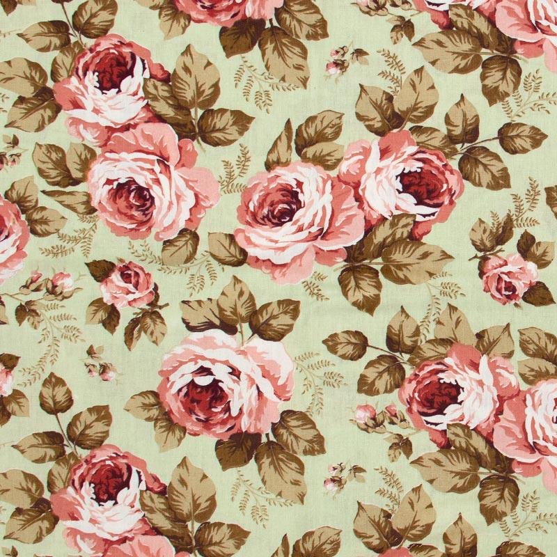 Caldeira - Floral Rosa Grande Com Fundo Cinza - 50cm x 150cm