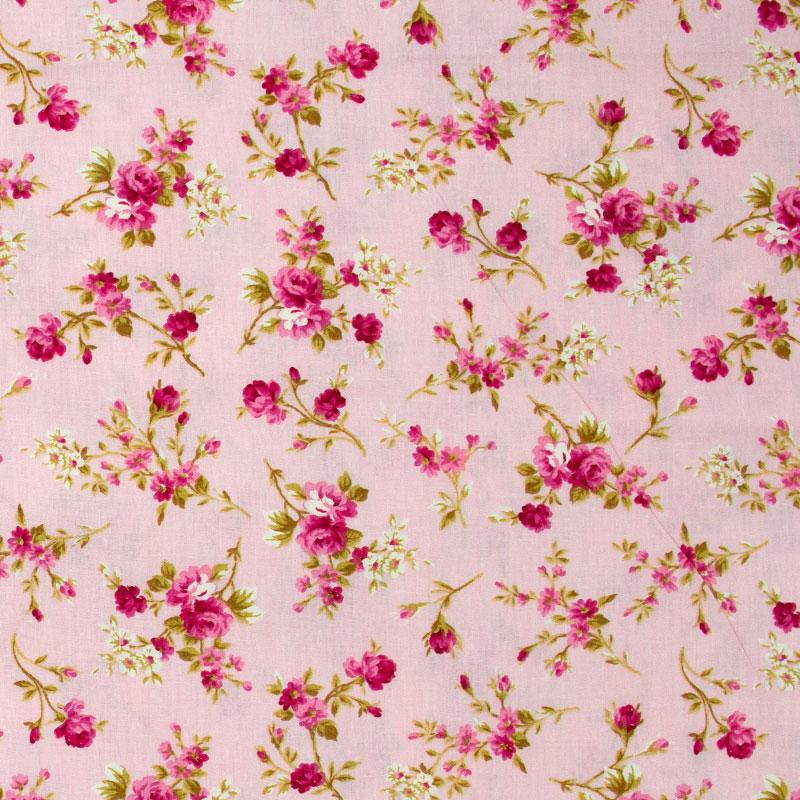 Caldeira - Rosas Rose Com Fundo Rosa - 50cm x 150cm