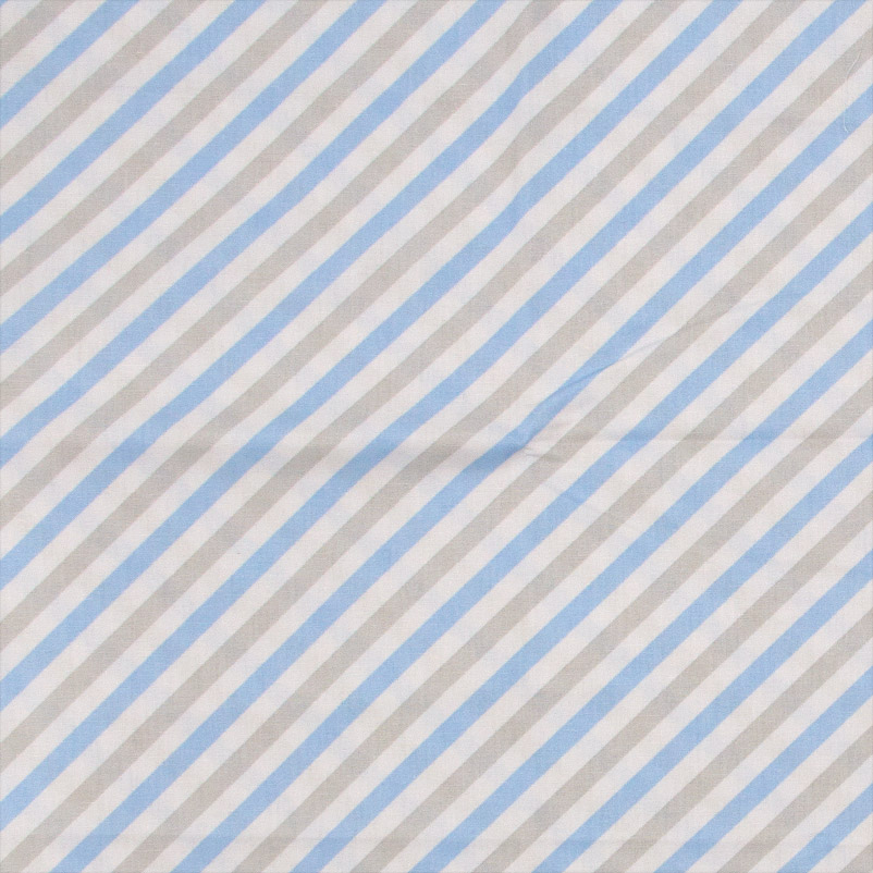 Caldeira - Listrado Cinza/Azul  - 50cm x 150cm
