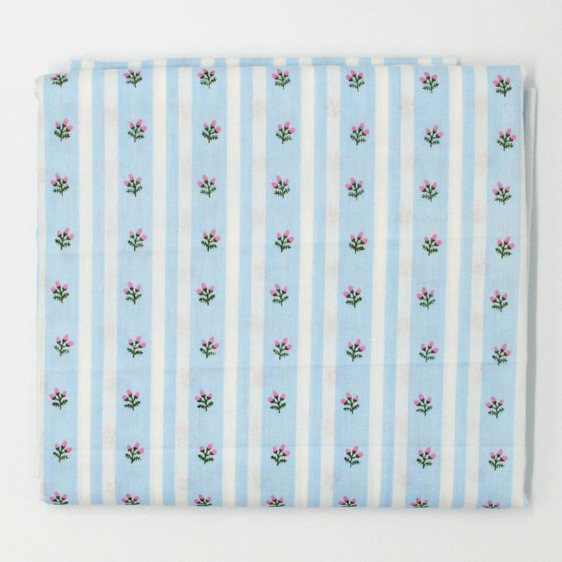 Caldeira - Listrado Floral Azul - 50cm x 150cm