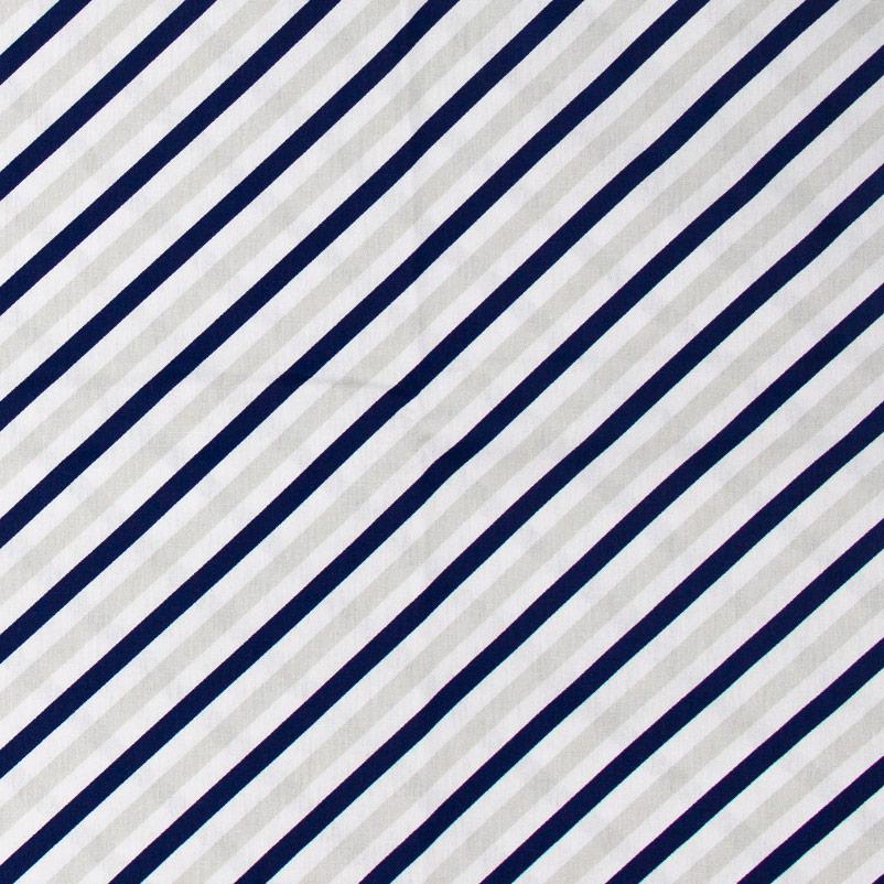 Caldeira - Listrado Azul MArinho/Cinza - 50cm x 150cm