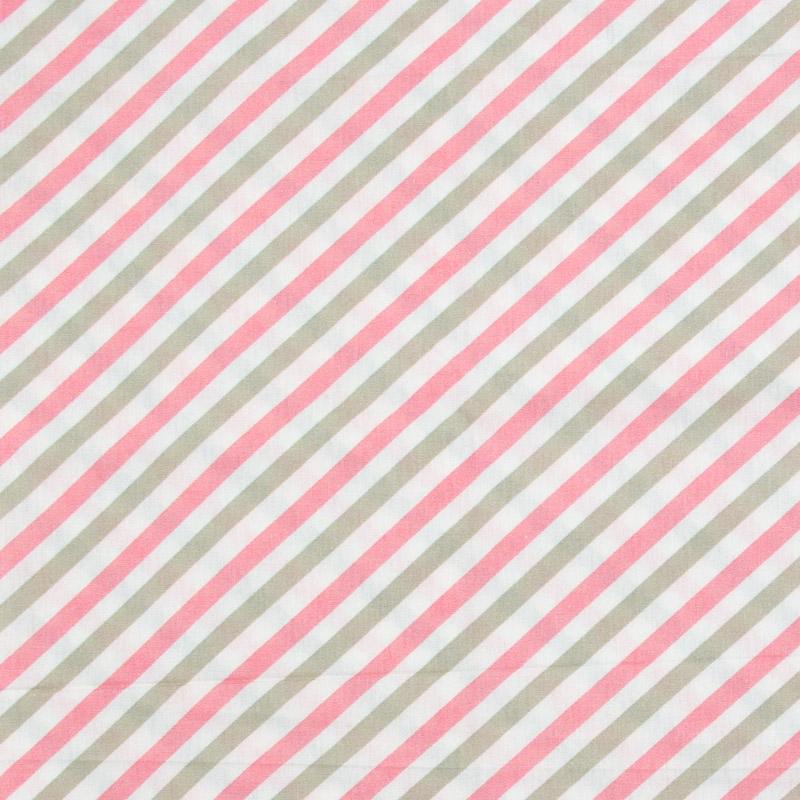 Caldeira - Listrado Rosa/Areia/Branco - 50cm x 150cm