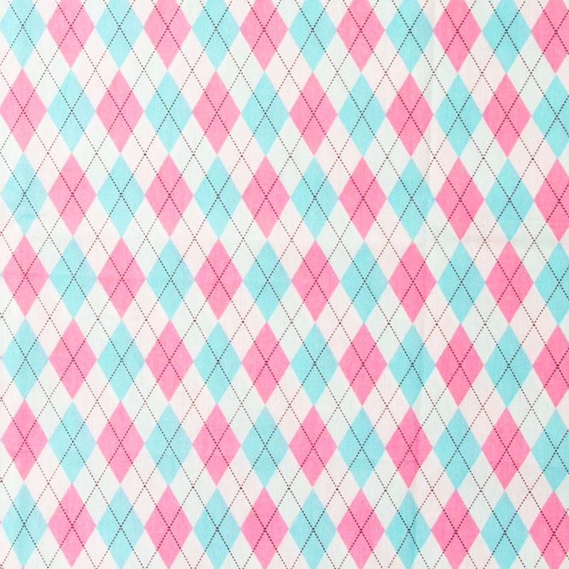 Caldeira - Losangos Rosa/Azul/Branco  - 50cm x 150cm