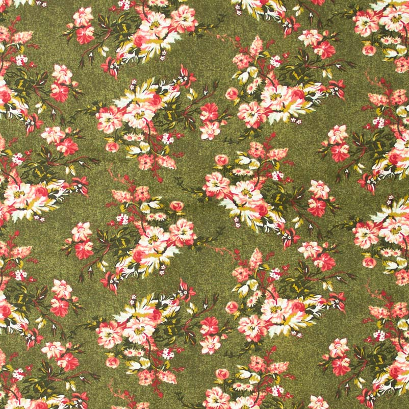 Caldeira - Flores Rosa Com Fundo Musgo - 50cm x 150cm