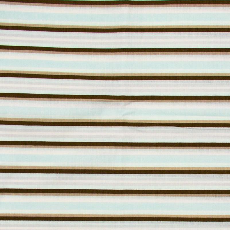 Casa Criativa - Listra Marrom/Azul - 50cm x 150cm