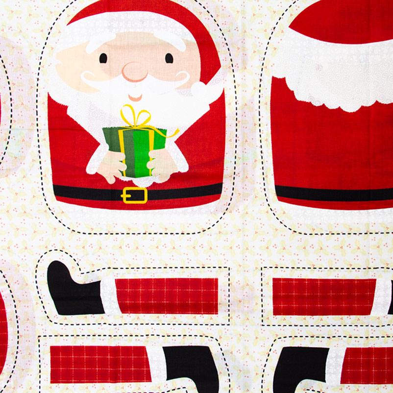 Estilotex - Coleção Natal - Almofada Papai/Mamãe Noel Natal - 50cm X150cm