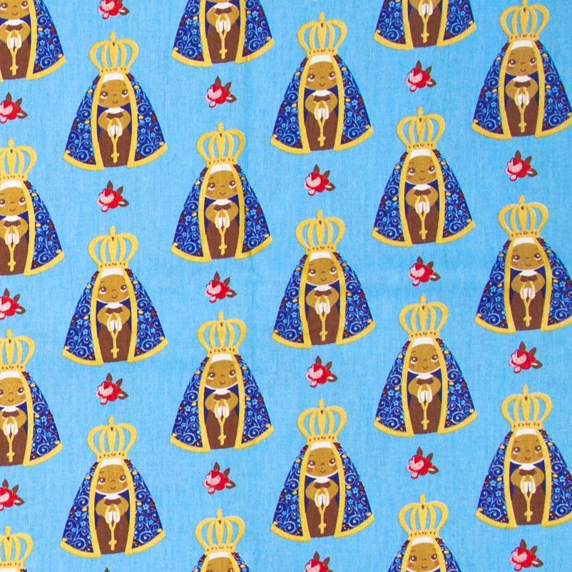 Nossa Senhora Aparecida  Com Fundo Azul - 50cm X150cm