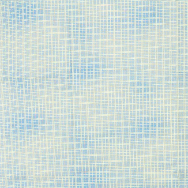 Casa Criativa - Xadrez Azul Nuvens Branco- 50cm X150cm