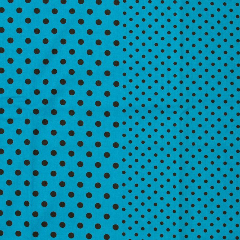 Catarinense - Marrom Poá Preto Com Fundo Azul Claro - 50cm X150cm