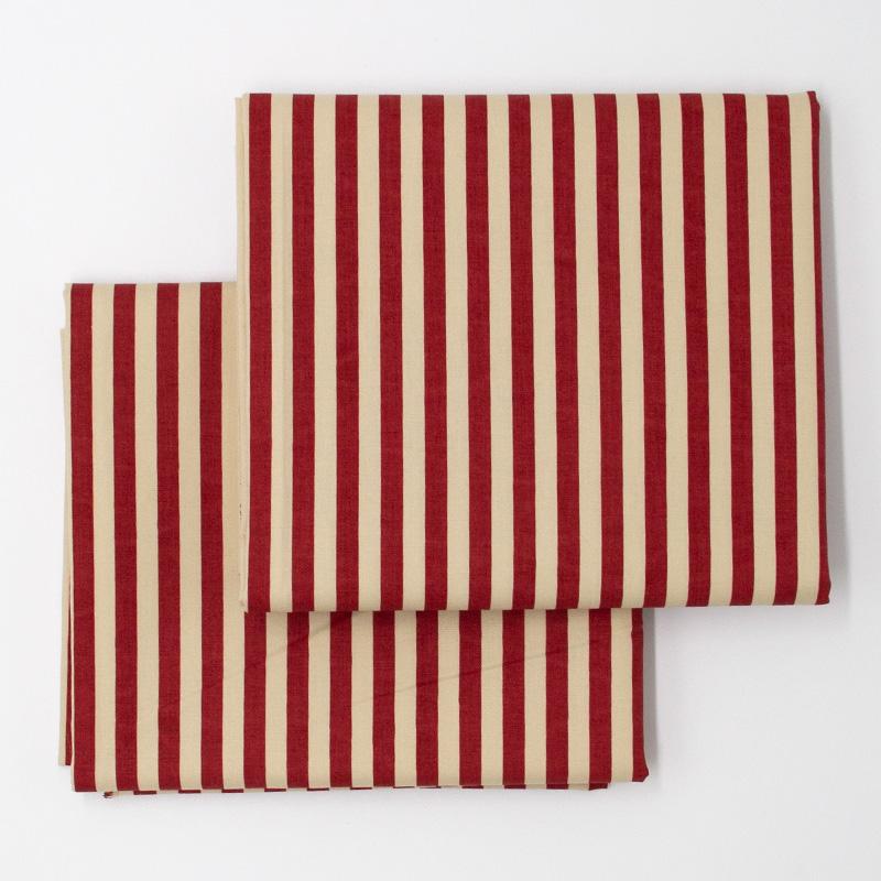 Cris Mazzer - Estampa Vintage Listrado Vermelho - 50cm x 150cm