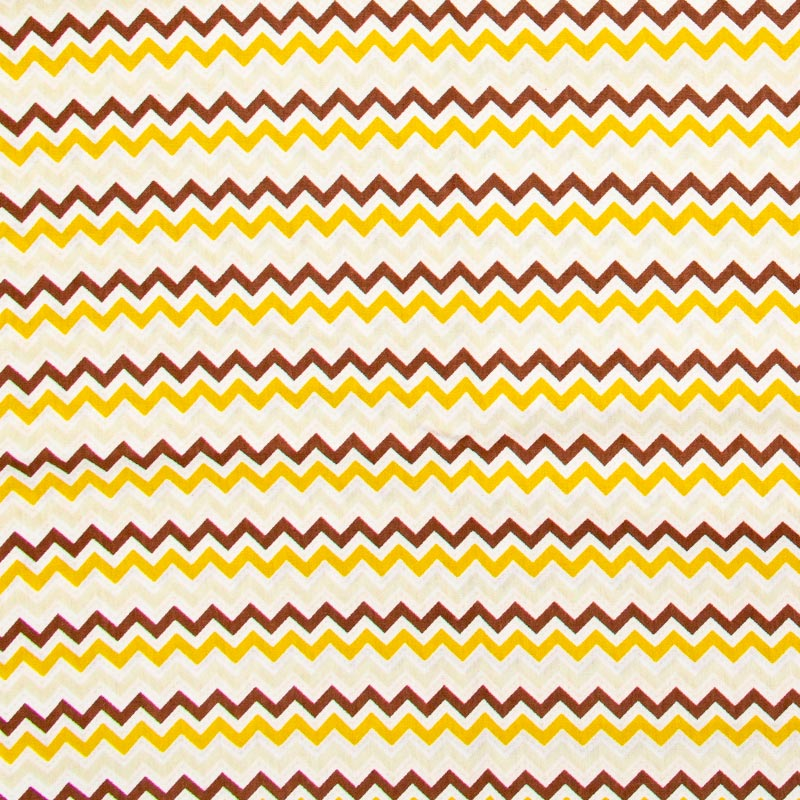 Decorart - Chevron Amarelo/Marrom - 50cm x 150cm