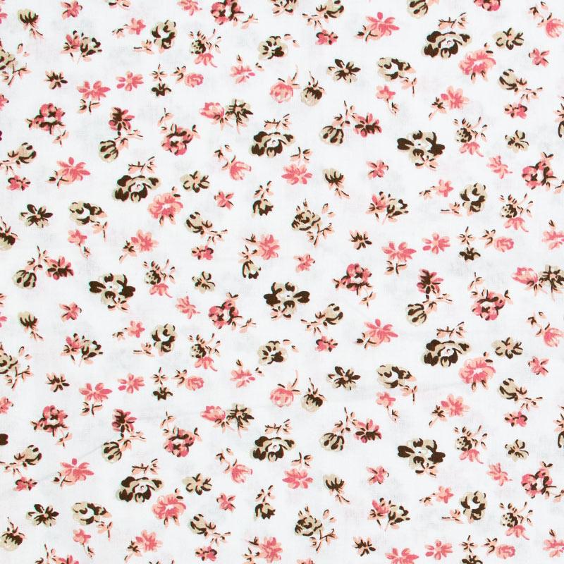 Decorart - Rosas Claro Com Fundo Branco- 50cm x 150cm