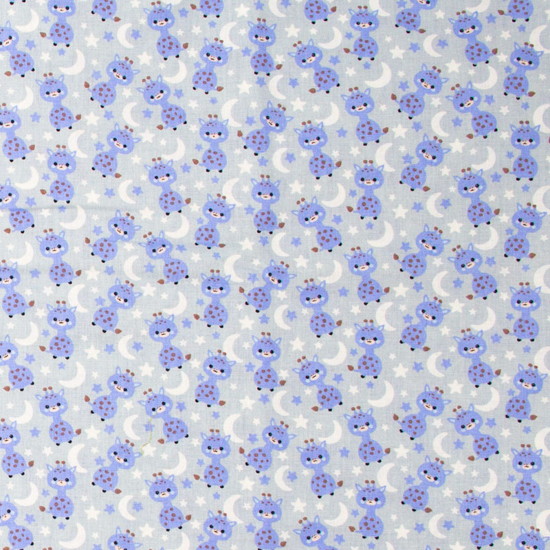 Decorart - GIrafa/Lua/Estrela Com Fundo Azul - 50cm x 150cm