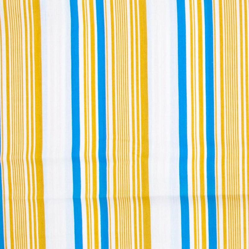 Decorart - Listrado Amarelo/Azul/Branco - 50cm x 150cm