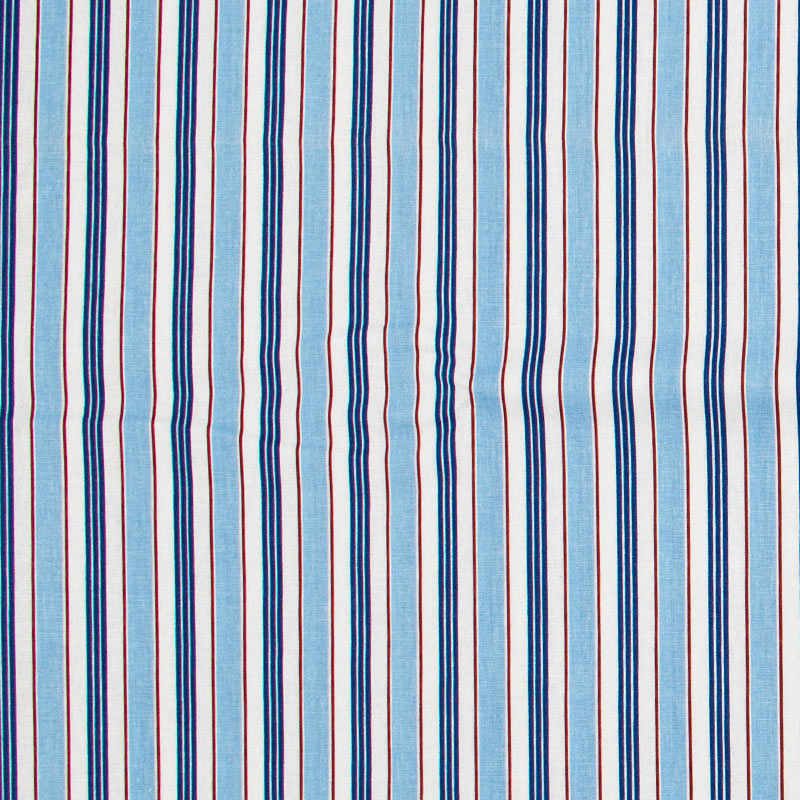 Decorart - Listrado Azul/Azul Claro/Vermelho/Branco- 50cm x 150cm