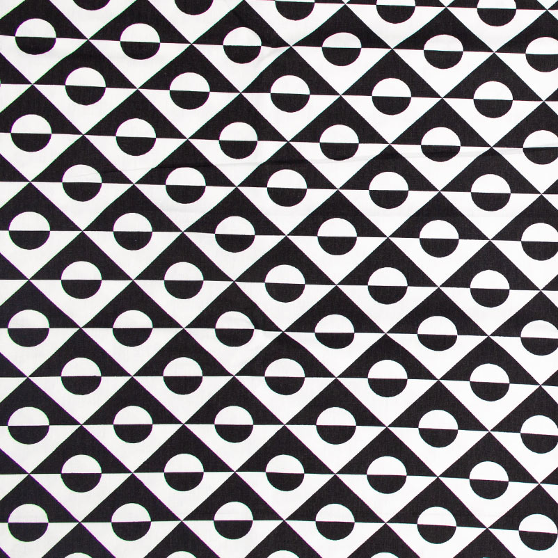 Decorart - Losango Preto e Branco - 50cm x 150cm