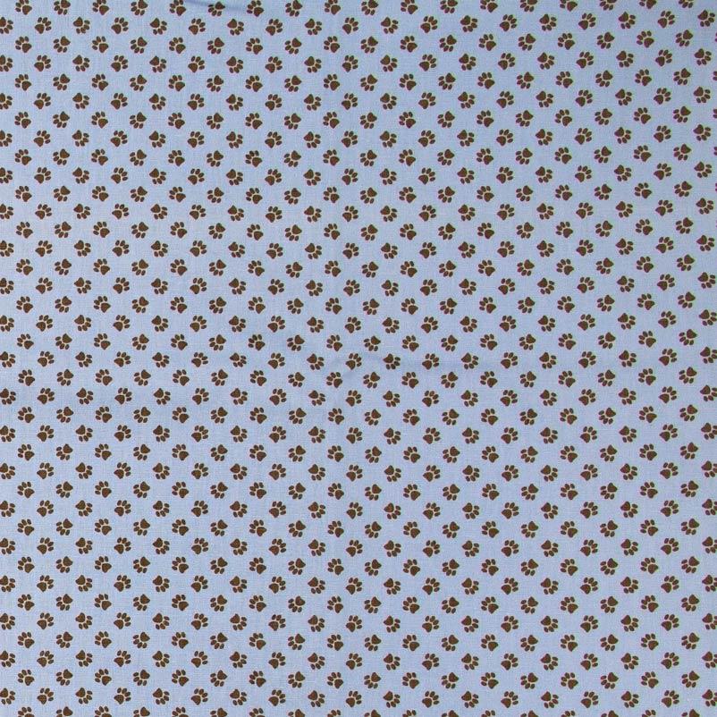 Decorart - Patinhas Com Fundo Azul - 50cm x 150cm