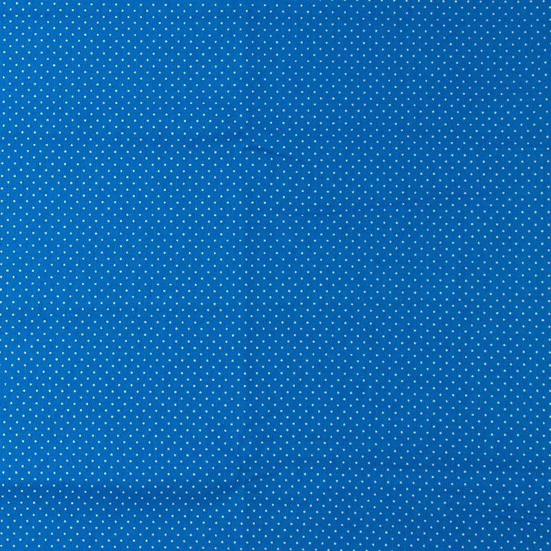 Decorart - Poá Branco Com Fundo Azul - 50cm x 150cm