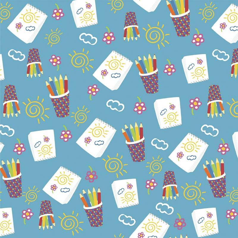 Fabricart - Coleção 116 Colors - Estampa Desenhando - 50cm X150cm