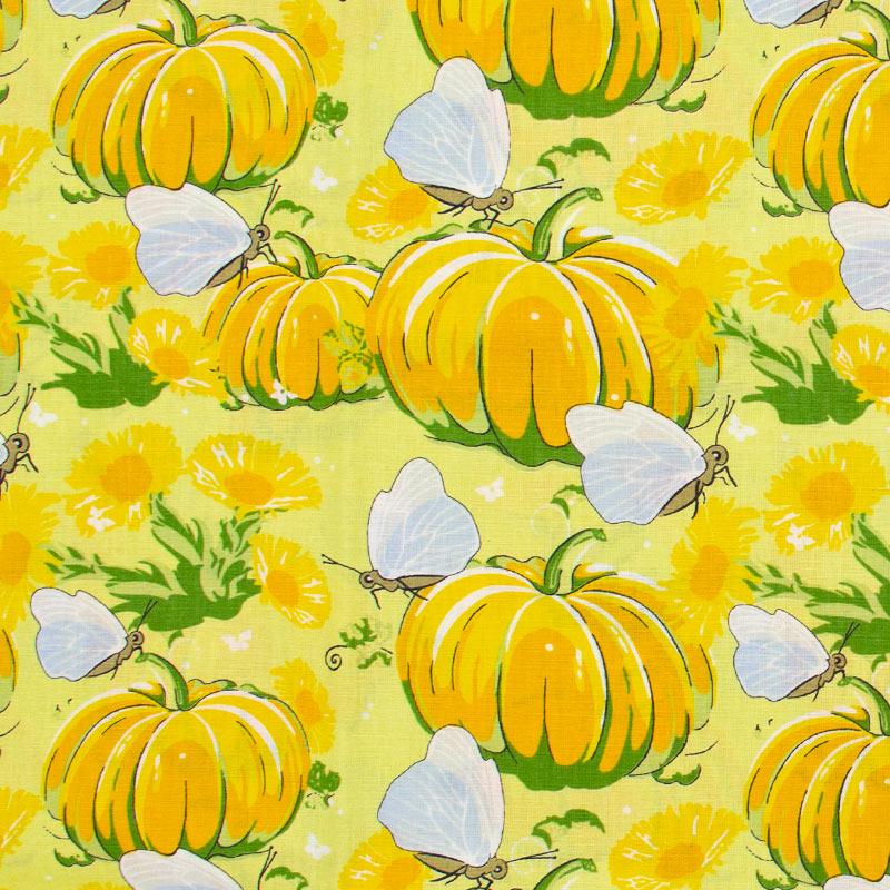 Estilotex - Abobora Com Fundo Amarelo - 50cm x 150cm
