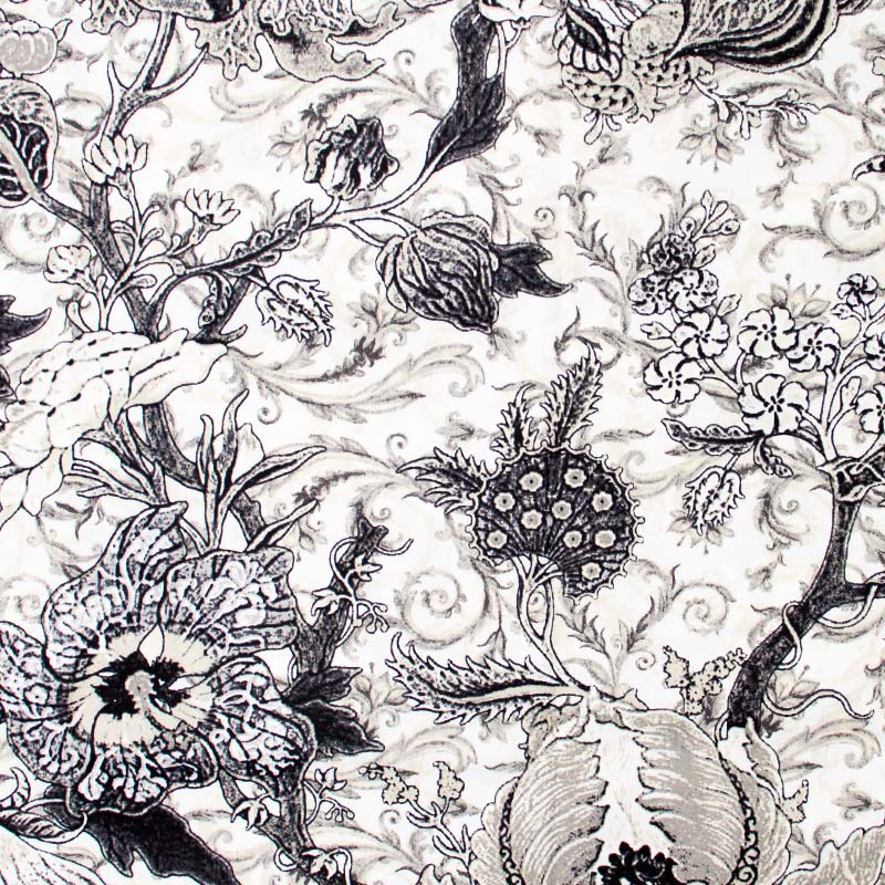 Estilotex - Ilustração Plantas Preto Branco - 50cm x 150cm