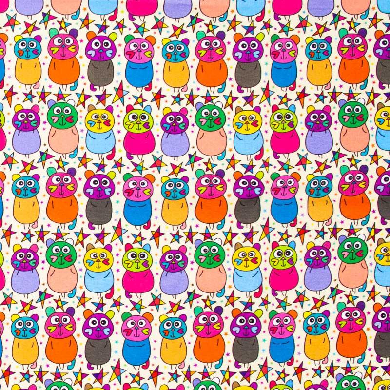 Fabricart - Gatos Psicodélicos - 50cm x 150cm