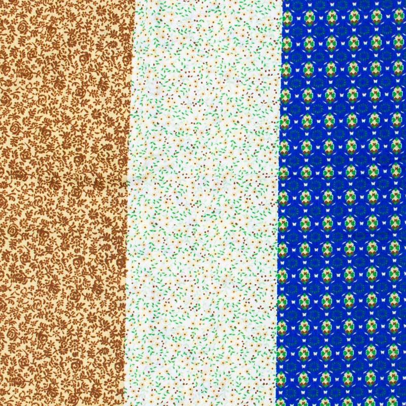 Fernando Maluhy - Faixa Floral Marrom/Verde/Azul - 50cm X150cm