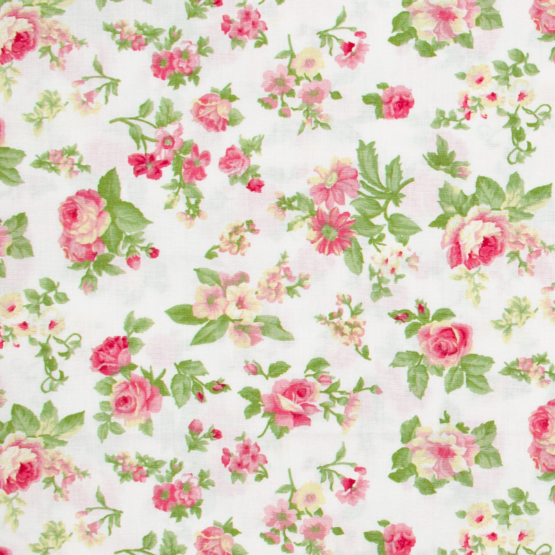 Fernando Maluhy - Floral Rosa Carmim - 50cm X150cm