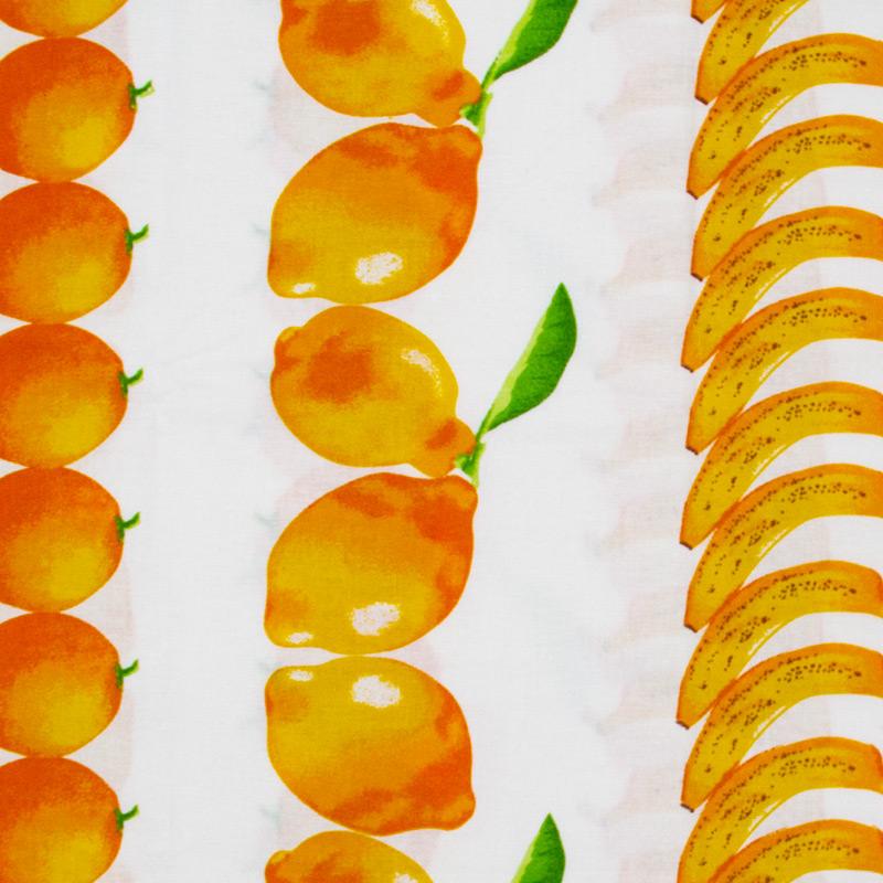 Fernando Maluhy -  Frutas Amarelas Com Fundo Branco - 50cm X150cm