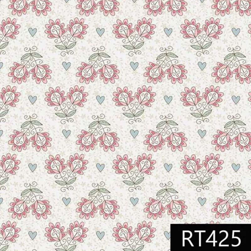 Fuxicos e Fricotes - Coleção Libélulas - Floral Libélulas Fundo Bege - 50cm X150cm